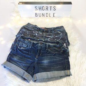 💕3 for $24💕 Size 5 Denim Shorts Bundle